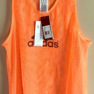 NWT Adidas Orange Mesh Tank Top Size Small NWT